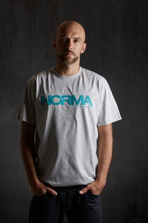 NORMA - T-shirt grey/blue
