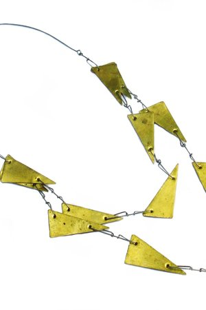 Gold triangles necklace 3