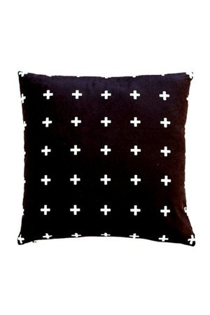 MIA home passion - Poduszka Cross multi black