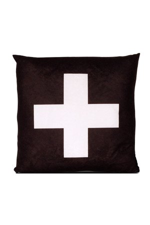 MIA home passion - Poduszka Cross white
