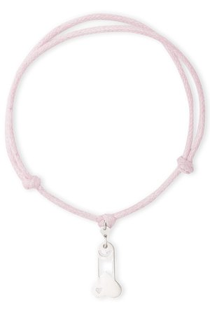 B-Nasty - SILVER CHARMS WITH PINK CORDS