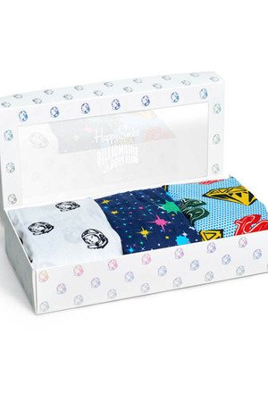 HAPPY SOCKS - Bielizna męska GIFTBOX Happy Socks x Billionaire Boys Club XBBC64-100