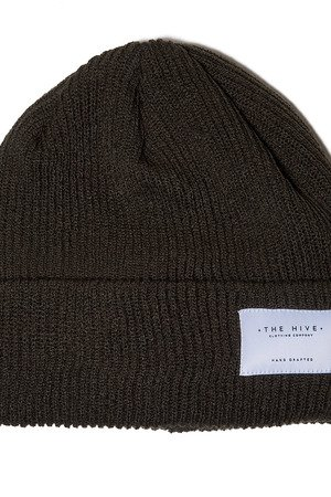 The Hive - PATCH BEANIE IN OLIVE