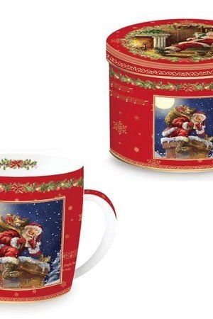 MIA home passion - Kubek porcelanowy Retro Santa I