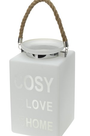 Lampion szklany cosy love home 0c0a1f