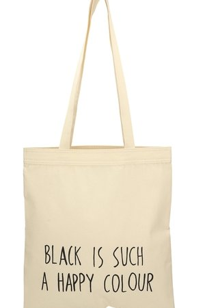 Black is such a happy colour letter bag 67de57