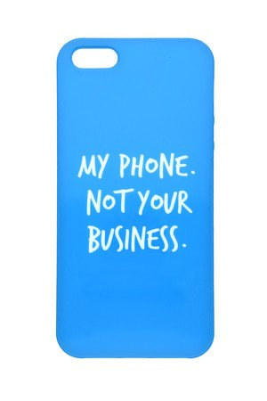 Letter Bag - My phone not your business Letter Bag Case
