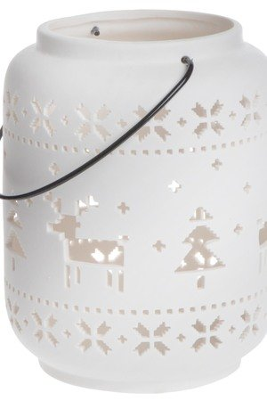 MIA home passion - Lampion porcelanowy Reindeers II