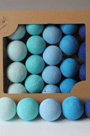 Cotton balls blue 10 szt d12653