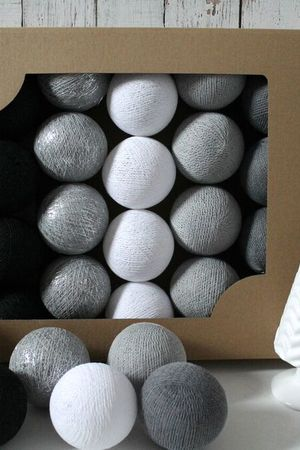 MIA home passion - Cotton Balls Silver Winter 10 szt.