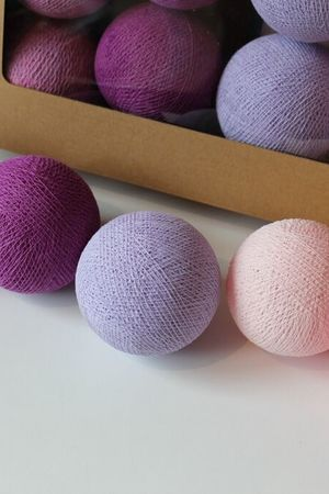 MIA home passion - Cotton Balls Light Berry 20 szt.
