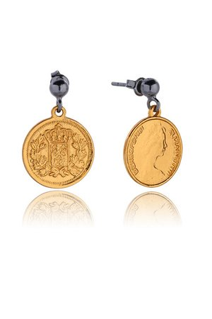 Joccos Design - Royal Coin Earrings in Gold