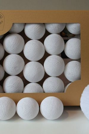 MIA home passion - Cotton Balls All white 10 szt.
