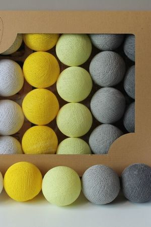 MIA home passion - Cotton Balls Smokey Yellow 10 szt.