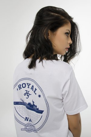 HARP TEAM - T-SHIRT ROYAL NAVY