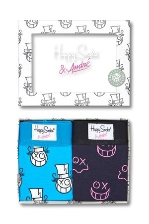 HAPPY SOCKS - Happy Socks x Mr. Andre 2pack Boxer Briefs XASTH81-6000