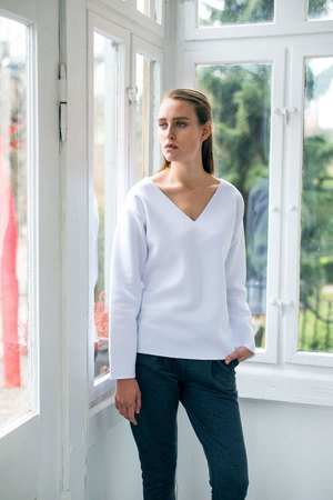 GAU great as You - VELVET WHITE bluza oversize
