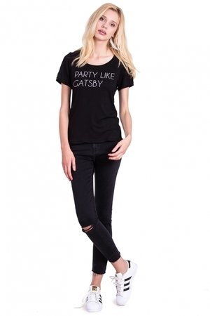 Gatsby tee in black f6929e