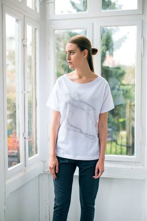 GAU great as You - WHITE MARBLE t-shirt oversize
