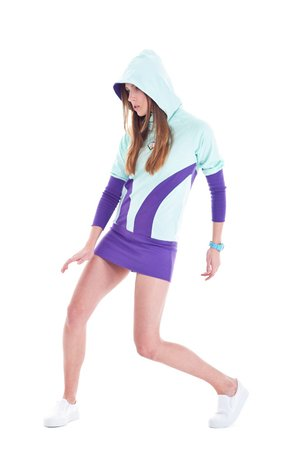 Earth hoodie mint purple c52d41