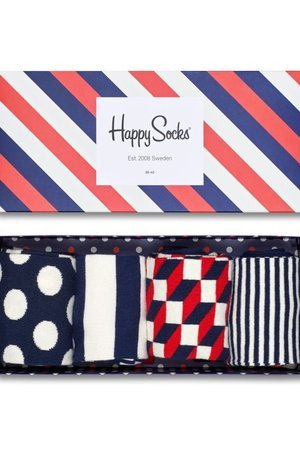 HAPPY SOCKS - Giftbox Happy Socks - Stripe 4Pack (XBDO09-6000)