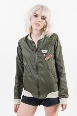 NOONA BANKS - GREEN WATERPROOF BOMBER JACKET