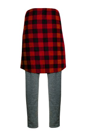 Grey basic sweatpants red flannel e2beee