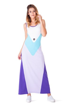 OKUAKU - Pavo Maxi Dress (Violet)