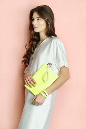 DRESSAP - fluo banana envelope bag