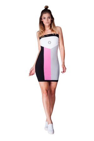 Telescopium dress black pink bbd473
