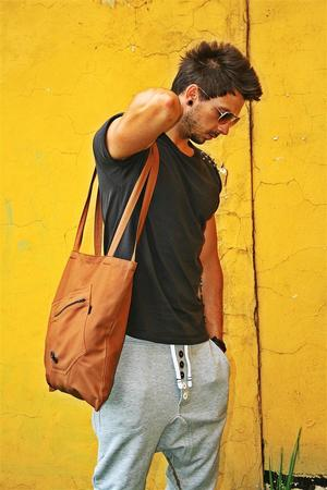 Button one pocket eco bag unisex kolory 77db8b