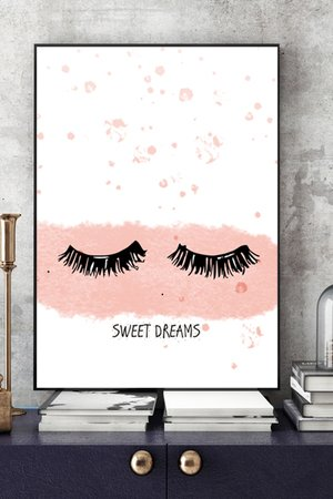 Sweet dreams art print a4 421003