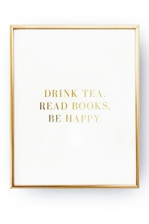 Drink tea read books be happy a12269.png