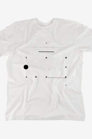 Lab of love tshirt white c13e2e