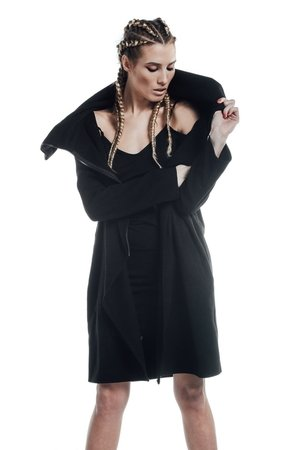 REST_FActory - Collar black coat