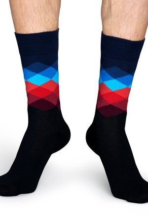 HAPPY SOCKS - Skarpetki Happy Socks - Faded Diamond (FD01-069)
