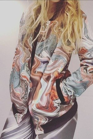 LABORATORYART - BLUZA - BOMBER  -youth power !DUŻA S