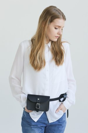 Leather belt bag natural 522526