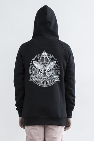 The Hive - MOTH HOODIE IN BLACK