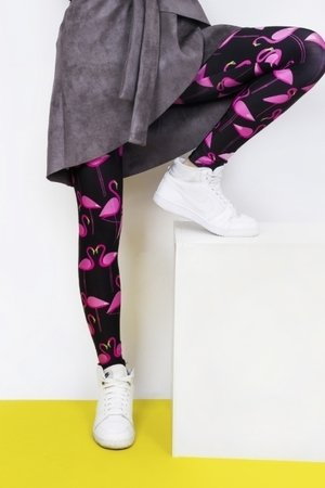 Leginsy flamingo black 01d5b9