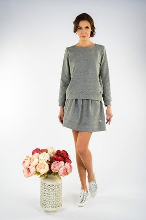 FOR HEART - Bluza Classic Szara