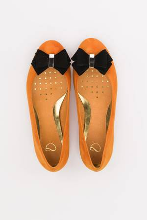 A&P Moccs - ORANGE & BLACK Balerinki A Little Glamour