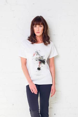 Giraffe painted t shirt oversize