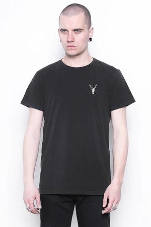 Mods washed black tee