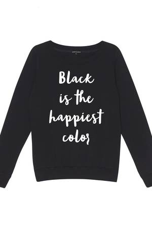 HEROESQUE - Bluza BLACK IS THE HAPPIEST COLOR