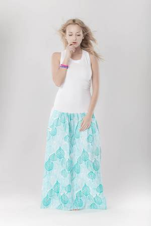 Dress boxing tropical long