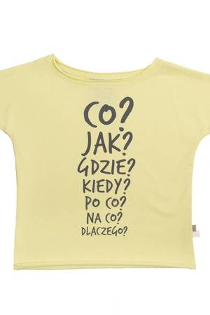 "M-art-a-baby - T-SHIRT WILI YELLOW ""CO, JAK, GDZIE..."""