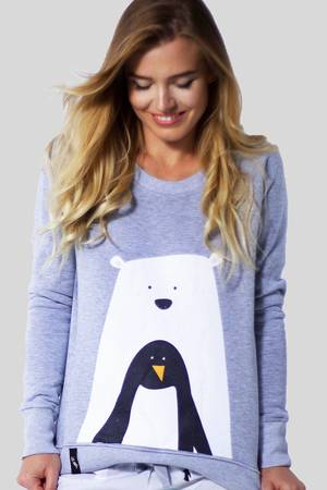 Meet The Llama - MATRYOSHKA Bear With Penguin - Bluza dresowa