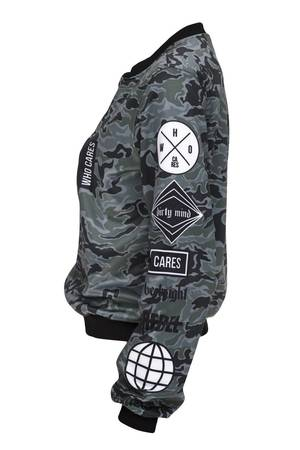 Who Cares - Baseball Jacket Camo