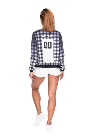 Who Cares - Baseball Jacket Chequered